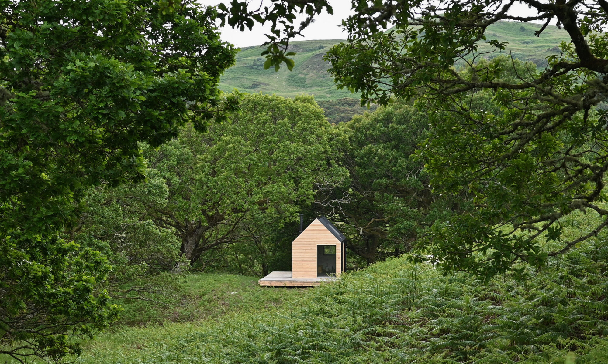 Artist Bothy in the landscape